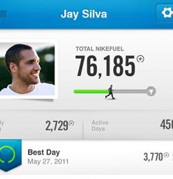 Nike Fuelband readout
