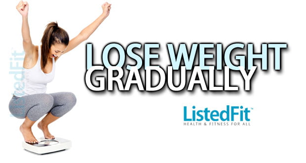 losing weight the gradual approach calorific deficit