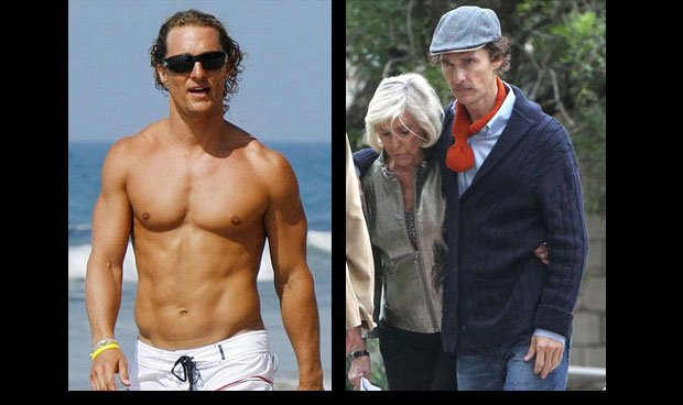 Matthew McConaughey Celebrity Weight changes celebrity Weight Loss