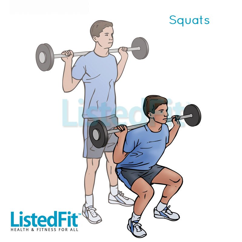 How to get a Brazilian Butt Lift Without Surgery Legs-man-Squats