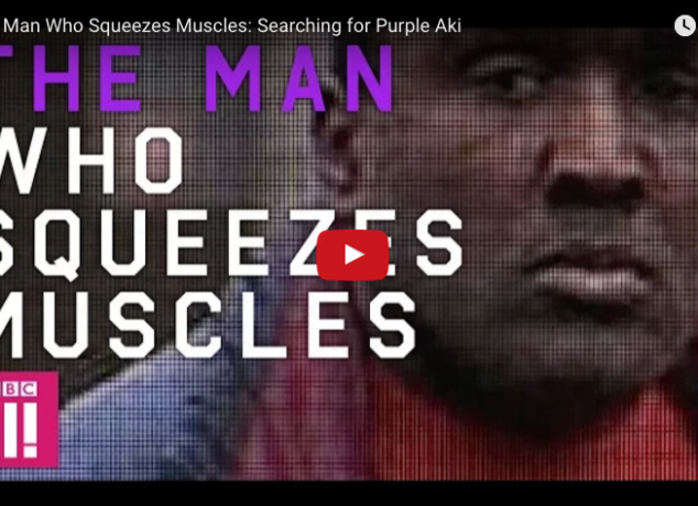 purple aki squeeze muscles