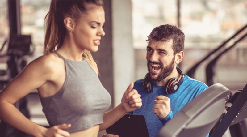 Personal Trainer Talks Too Much Guy-Yelling-At-Girl-Treadmill